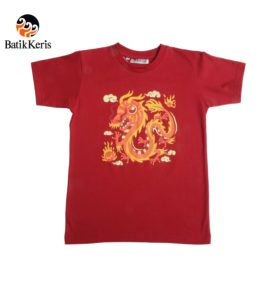 t-shirt anak batik keris motif naga