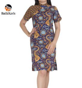dress batik keris motif naga wijaya imlek 2018