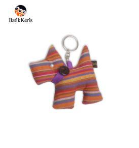 gantungan kunci batik keris figure anjing