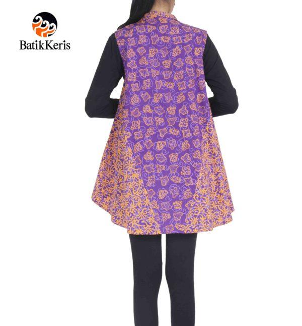 outer batik motif sekar jagad kombinasi