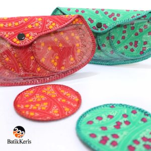 dompet alas gelas batik printing isi 8