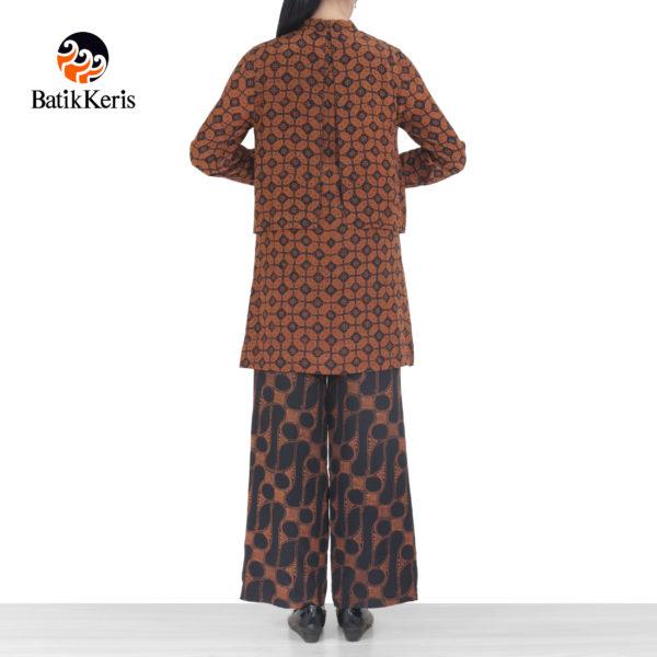 blouse celana batik motif parang kombinasi kawung