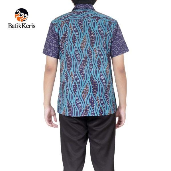 kemeja santai batik keris motif sumulur katon kombinasi ceplik suminar