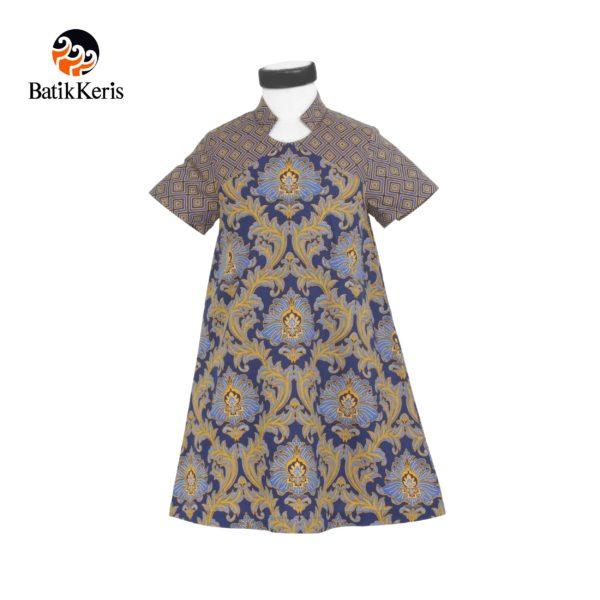 rok terusan anak batik keris motif bunga teratai kombinasi tinoto
