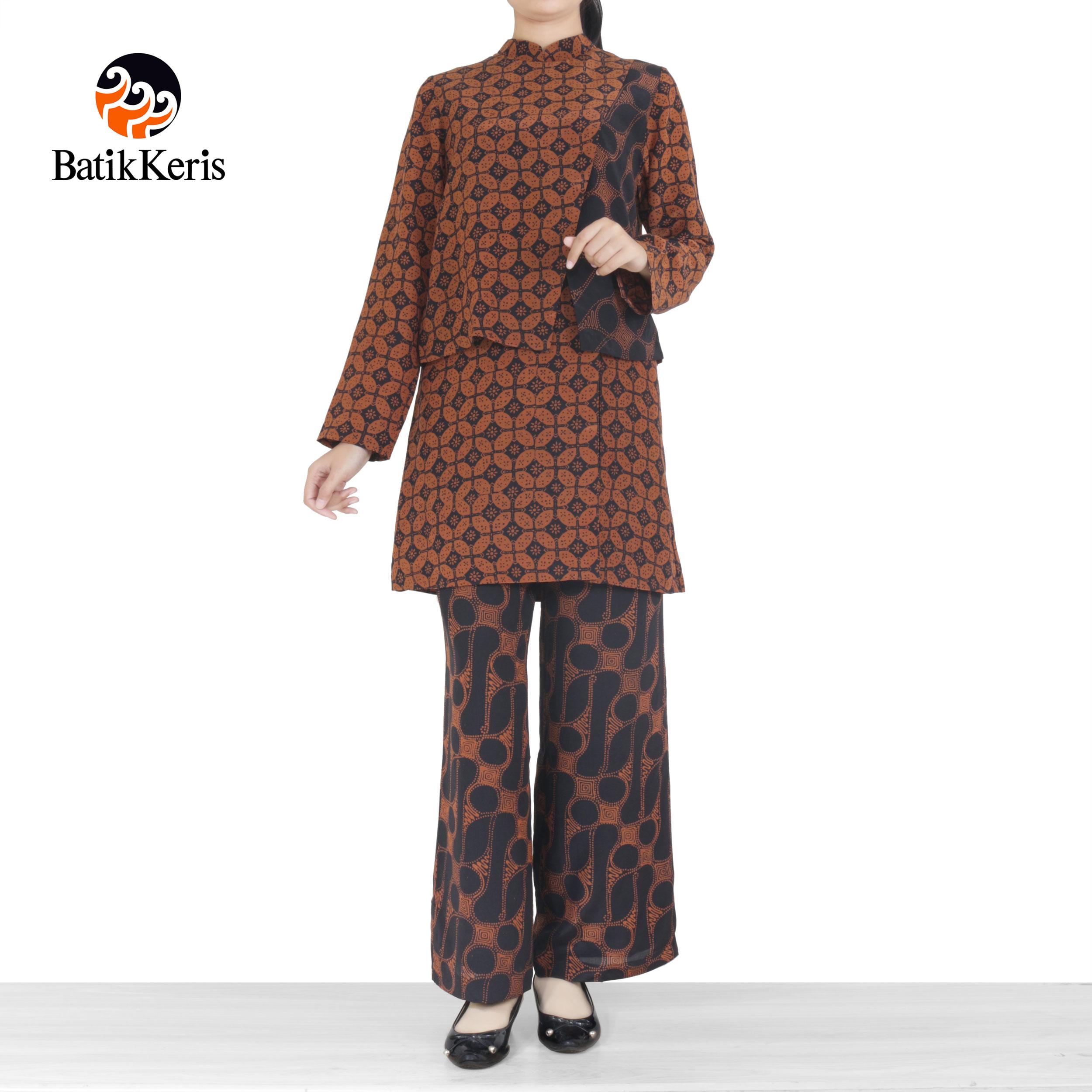 Batik Keris Online » BLOUSE CELANA BATIK MOTIF PARANG KOMBINASI KAWUNG 191f01274a