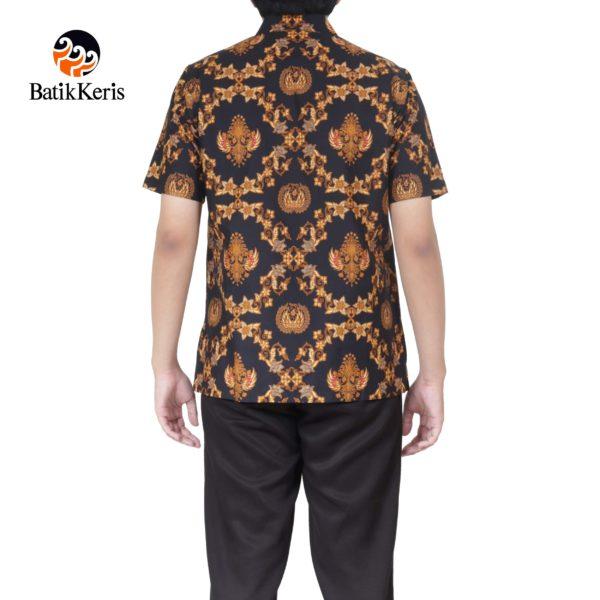 kemeja batik formal lengan pendek motif gurdo tumurun
