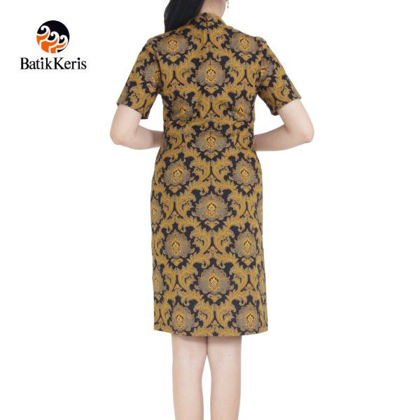 sackdress batik keris motif bunga teratai kombinasi tinoto