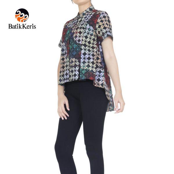 blouse batik keris motif kawung gradasi
