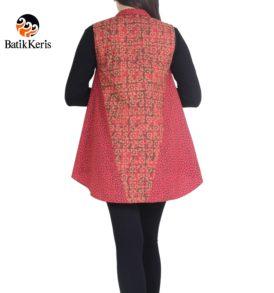outer batik keris motif sekar jagad ceplik kombinasi kawung