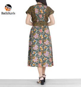 sackdress midi batik keris motif pandan wangi kombinasi namruji
