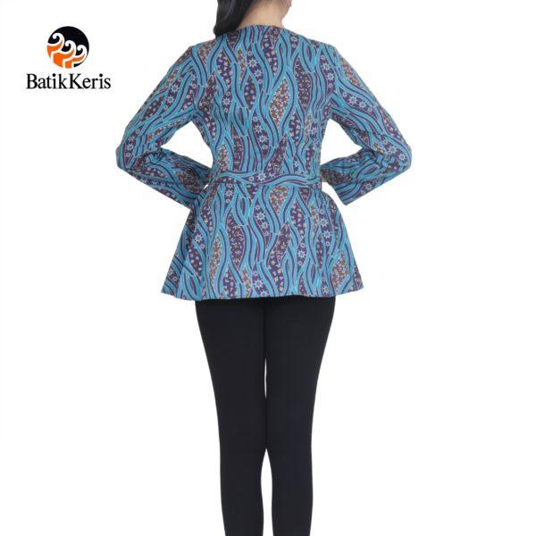 blouse batik keris lengan panjang motif sumulur katon kombinasi ceplik suminar