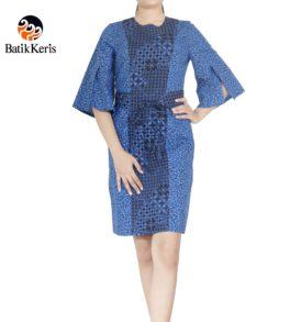 sackdress batik keris motif kawung wiwarno kombinasi ron jinawi