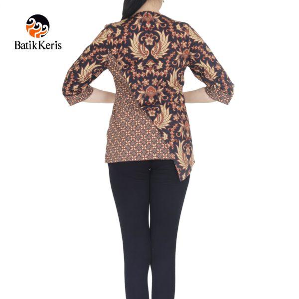blouse lengan 3/4 batik keris motif gurdo kembar