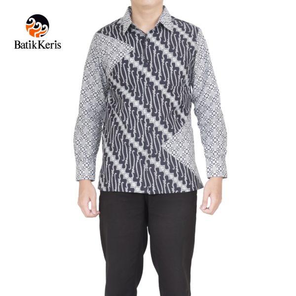 kemeja slimfit lengan panjang batik keris motif parang niti cendono komb truntum