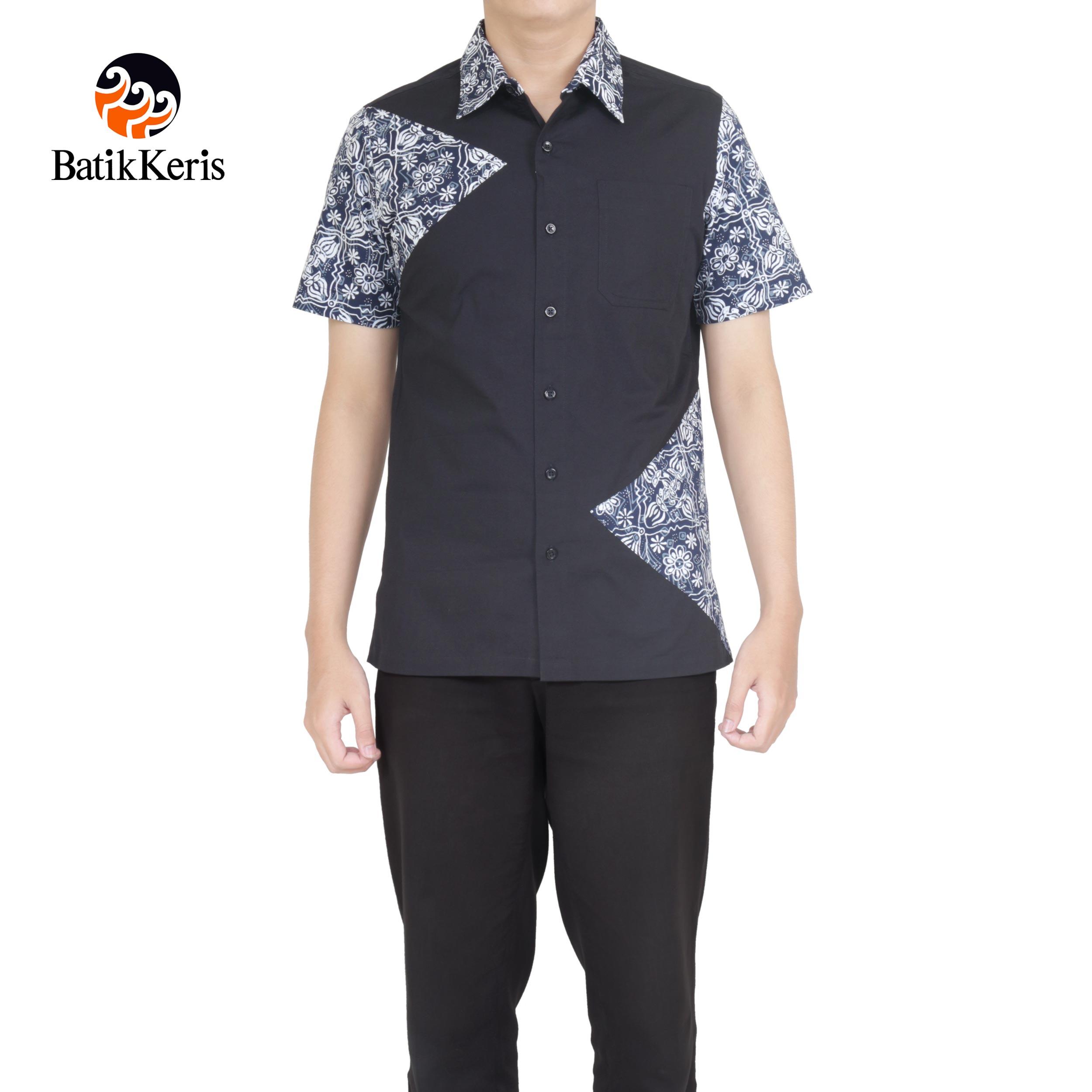 76 Desain Kemeja Polos Kombinasi Batik