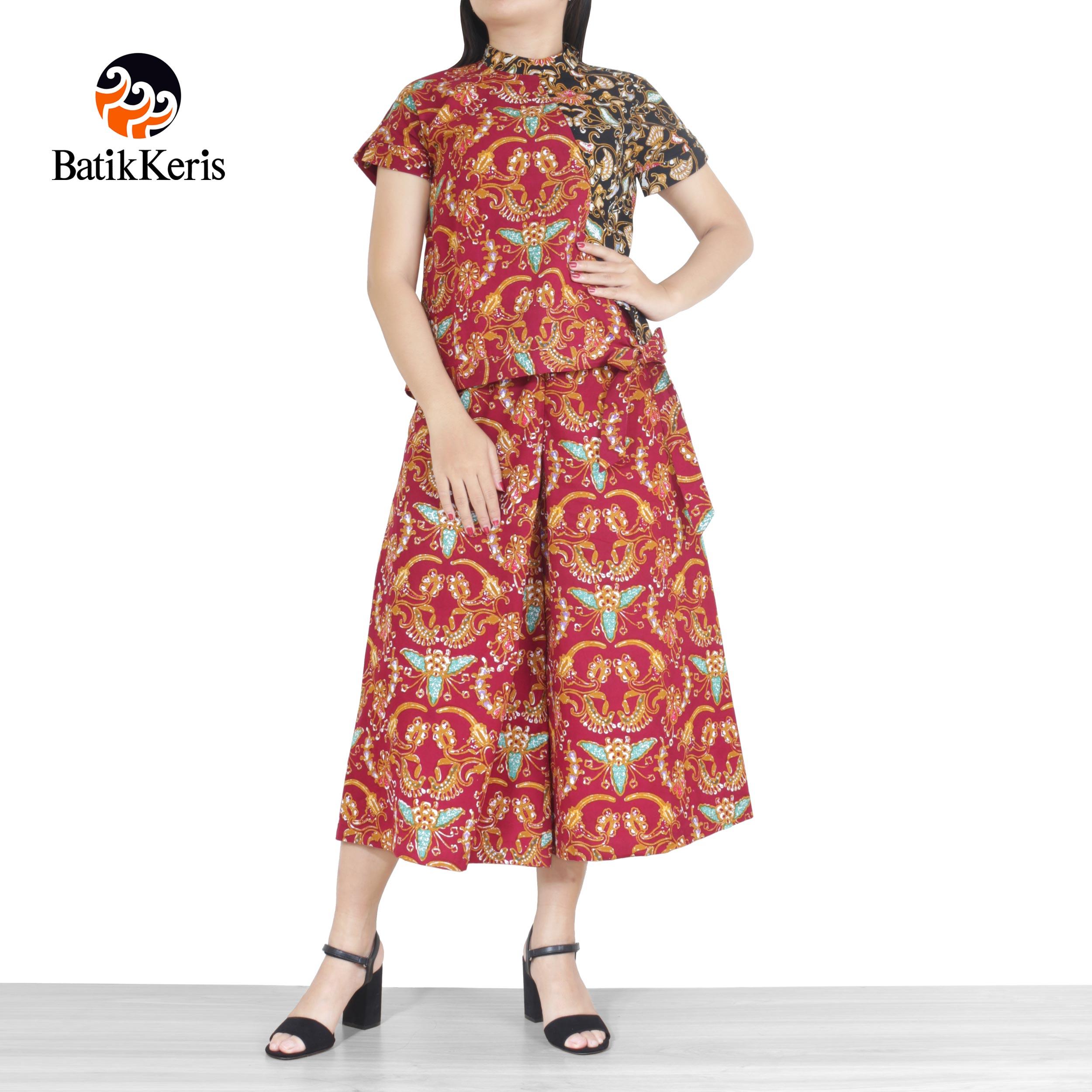 blouse celana motif madukoro kombinasi dewi pertiwi
