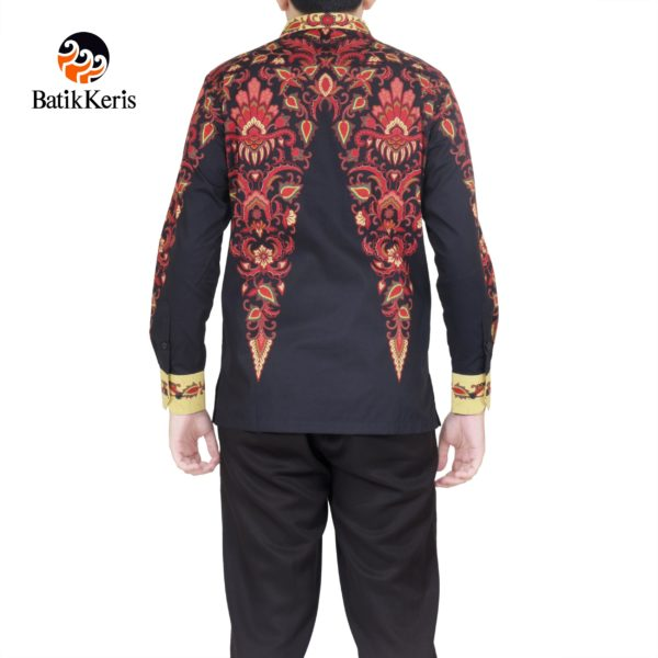 kemeja slimfit lengan panjang batik keris motif narawantah