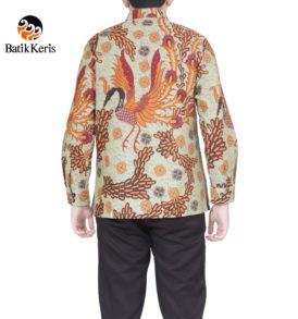kemeja batik formal lengan panjang motif peksi angkasa