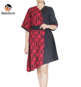dress batik keris motif parang tlate batik cap