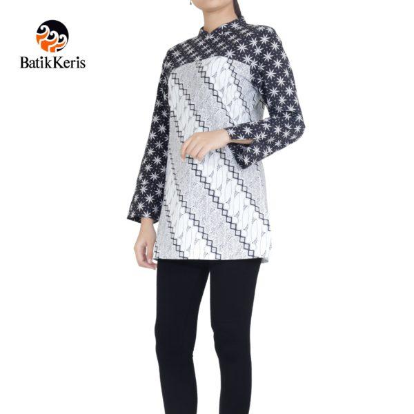 blouse lengan panjang motif parang asri kombinasi truntum