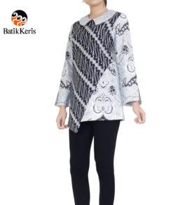 blouse lengan panjang motif parang niti cendono kombinasi wahyu tumurun