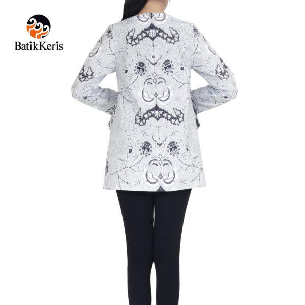 blouse lengan panjang motif wahyu tumurun kombinasi