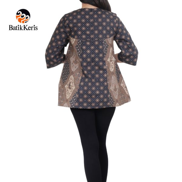 blouse lengan 3/4 motif agung satrio kombinasi truntum