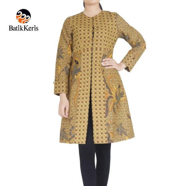 outer batik keris motif bayu pandoyo kombinasi kembang rukmini