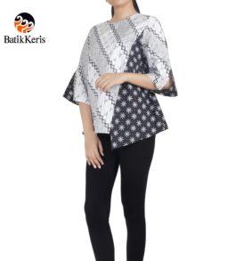 blouse lengan 3/4 motif parang asri komb truntum