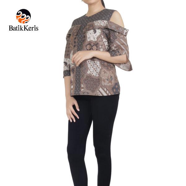 blouse lengan 3/4 motif kar aji gumelar komb truntum gumelar