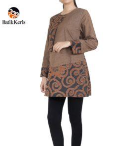 blouse lengan panjang motif batik tradisional mix