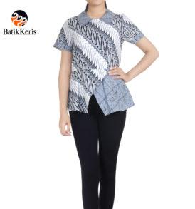 blouse lengan pendek batik keris motif parang panca kusumo komb mukti langgeng