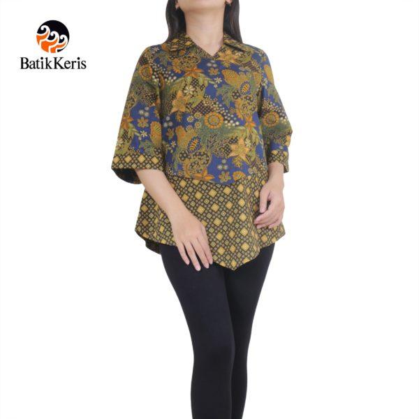 blouse lengan 3/4 motif kusumo mukti komb kartiko mukti