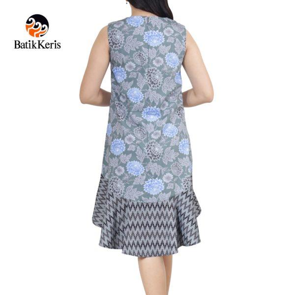 sackdress motif bunga dahlia kombinasi tirto tejo