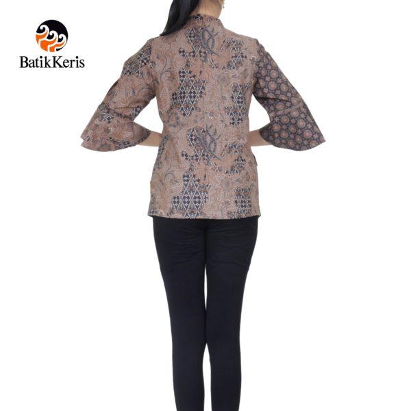 blouse lengan 3/4 motif dwi sailendro komb inggit ringgit