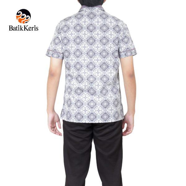 batik keris slimfit lengan pendek motif SIDO DWI PUSPO KOMBINASI LURIK