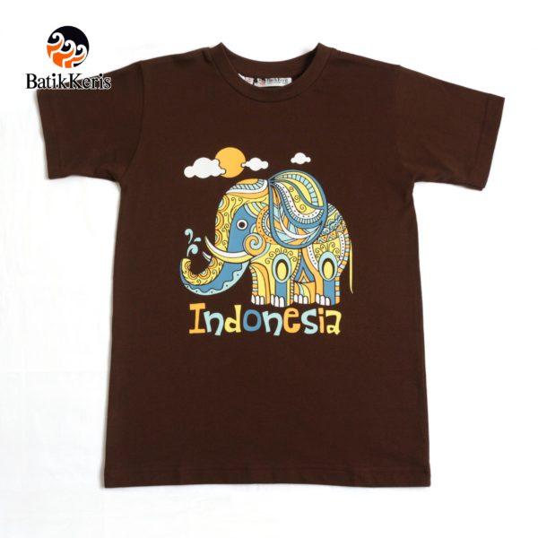 t-shirt anak motif gajah