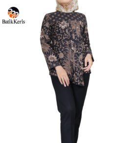 blouse lengan panjang bunga bakung kombinasi truntum