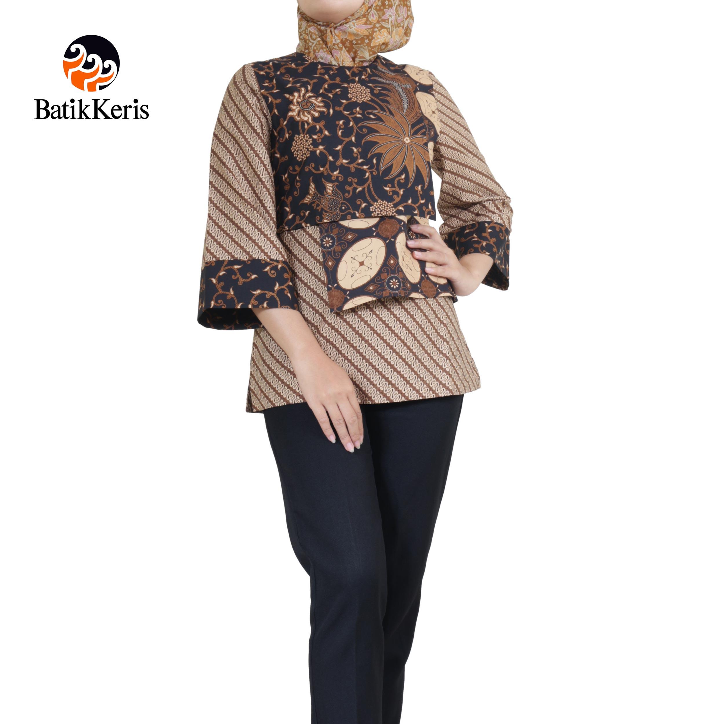 blouse muslim motif parang madu sari