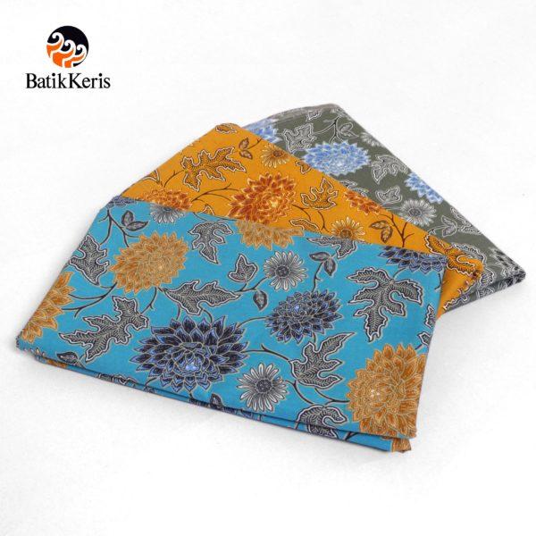 bahan batik motif bunga dahlia