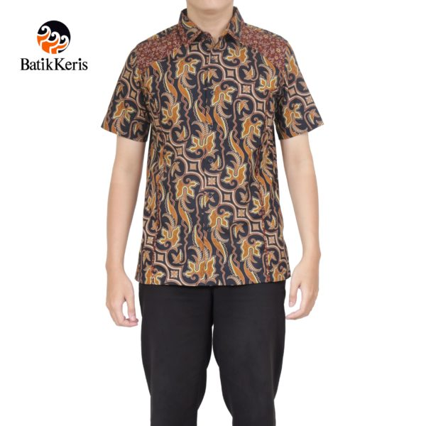 slimfit batik keris motif parang pradapa kombinasi ceplik semi