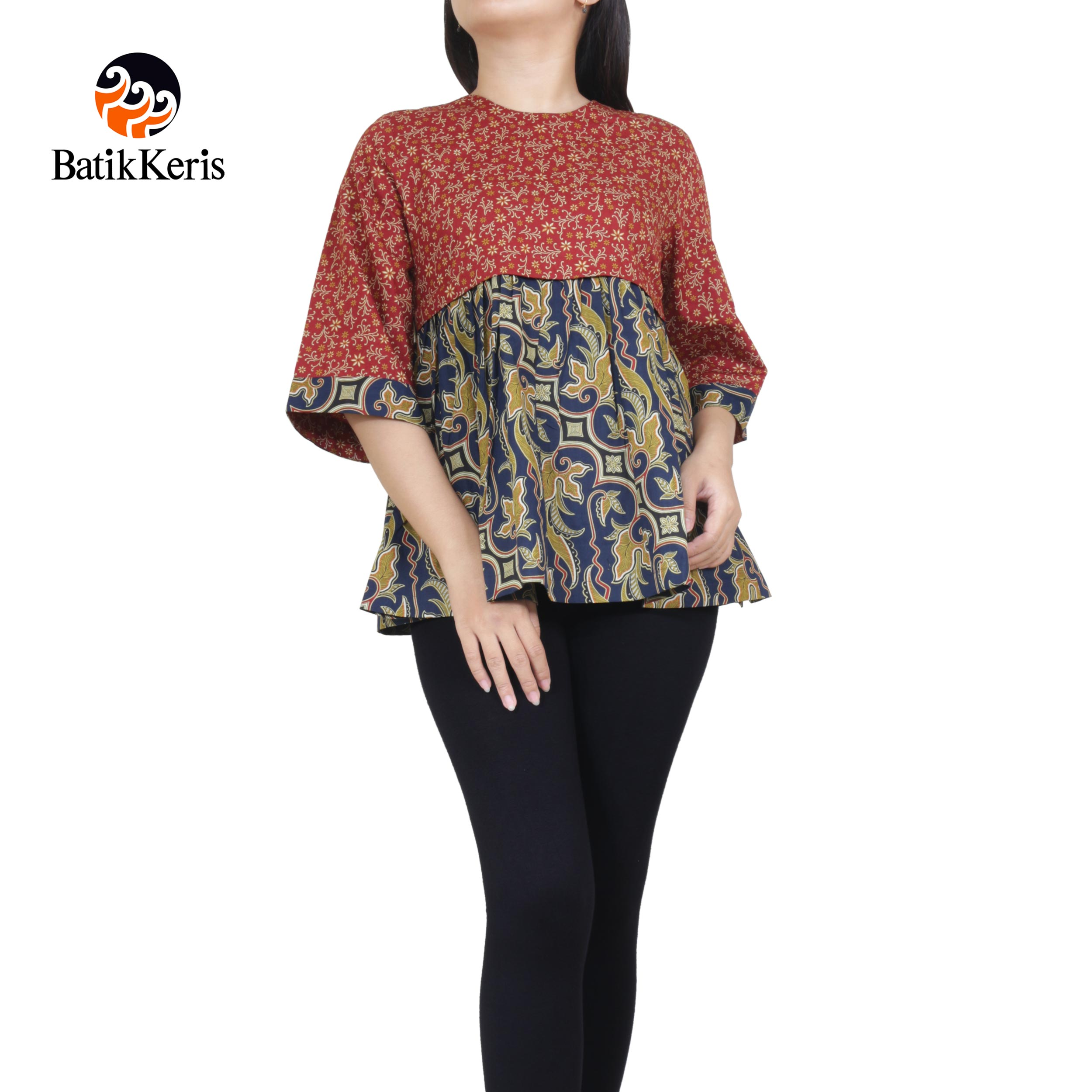 Batik Keris Online » BLOUSE LENGAN 3 4 MOTIF PARANG PRADOPO ... fd61f6c3fd