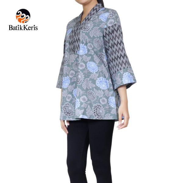 blouse motif bunga dahlia kombinasi tirtotejo