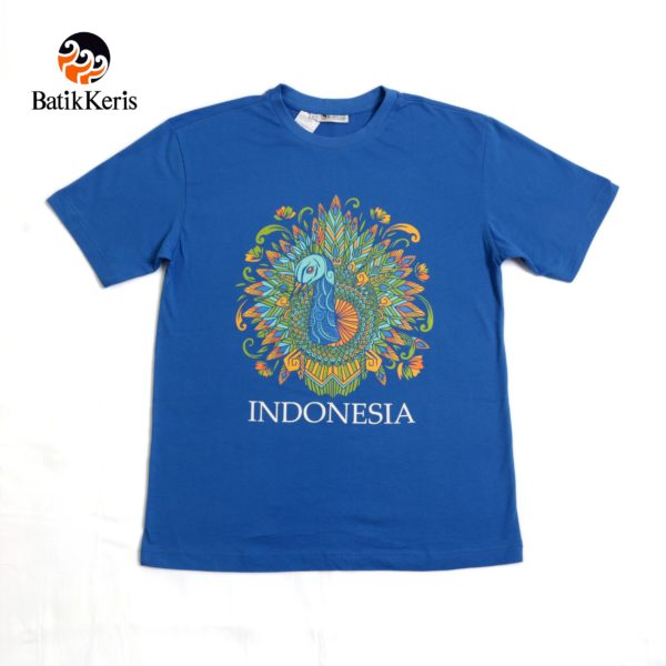 t-shirt dewasa motif merak indonesia