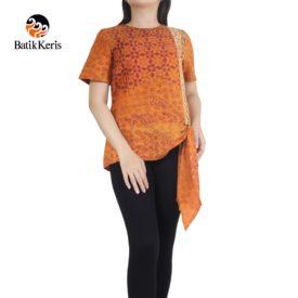 blouse batik motif gradasi pelangi