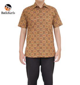 kemeja santai batik keris motif iromo kawung seling