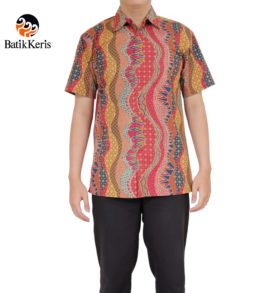 kemeja santai batik keris motif lengkung truntum