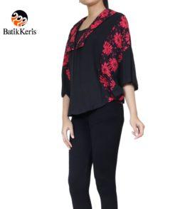 outer kelelawar motif batik kombinasi polos
