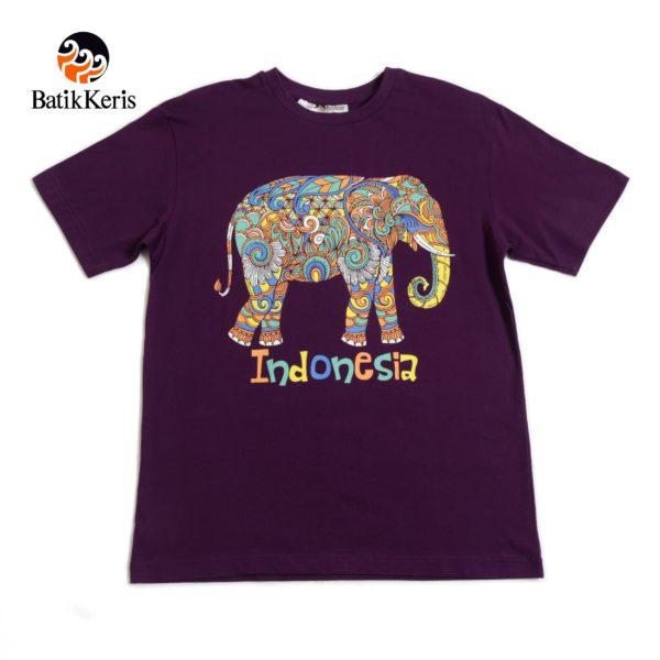 t-shirt dewasa motif gajah
