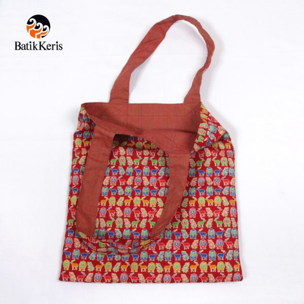 REVERSIBLE TOTTE BAG MOTIF ASIAN GAMES KOMB LURIK